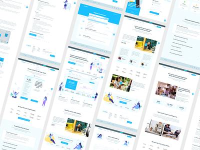 Climber website overview product design flat app illustration website ux design user interface ui