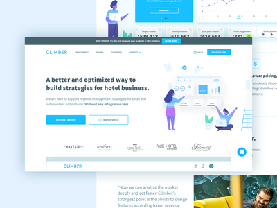 Climber Home jtbd crm user center design product design user experience design illustration website ui app ux user interface