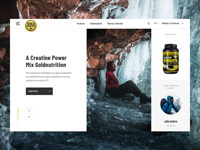 Goldnutrition homepage home page homepage gym interactive interfacedesign interface flat website design ux ui user interface
