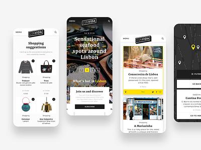Convida mobile version mobile ui interfacedesign interface mobile lisbon website ux design user interface ui