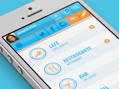 Sardine It app app iphone user interface lisbon icons graphics graphic design mobile ui ios tourism app