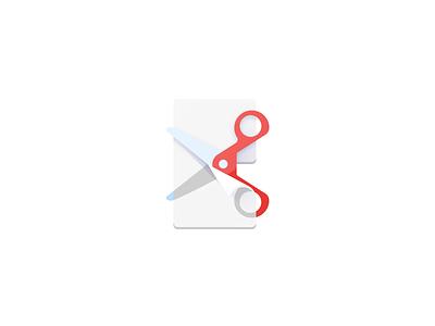 Cut Out icon scissors web material design file flat colorful