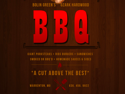 BBQ Joint needed some ...fire bbq ad new restaurant texture food