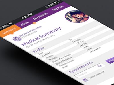 Medical Summary screenshot medical health interface mobile