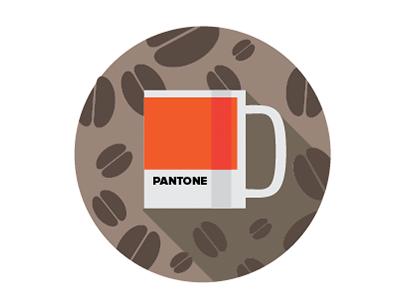 Orange pantone cup. MMm cawfee.