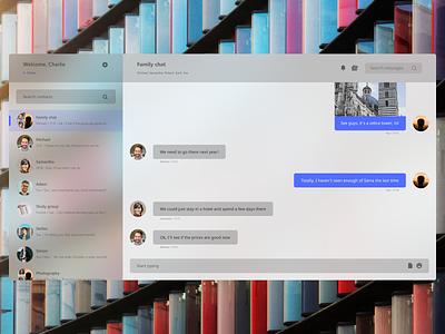 Fluent messaging app concept figma desktop app messaging app message app fluent design design ux ui