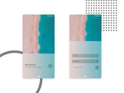 Fluent log-in form login mobile acrylic fluent design fluent android ui design