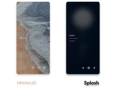 Splosh home screen customization theme android design ui