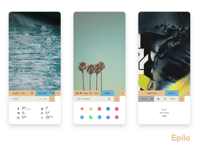 Epilo widgets ux theme customization ui home screen design android