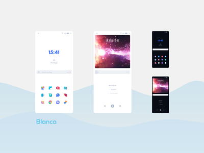 Blanca icon widgets ux theme ui customization home screen design android