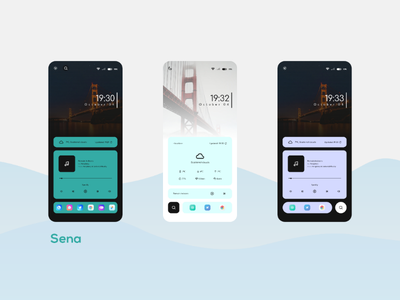 Sena widgets ux ui theme icon home screen design customization android