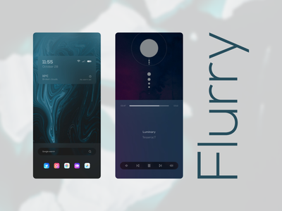 Flurry widgets ux theme customization ui home screen design android