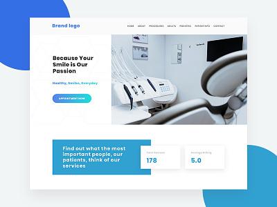 Dentist dentists typogaphy photoshop website design webdesign design