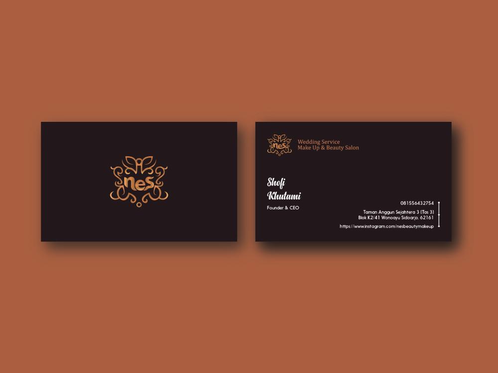 Business Card Nes Wedding Service minimalist logo business cards branding agency branding brand identity brand design brand desainem logo design logo mascot monogram logoground business card design businesscard identity design identity colour best