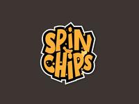 Logo Spinchips Lettering