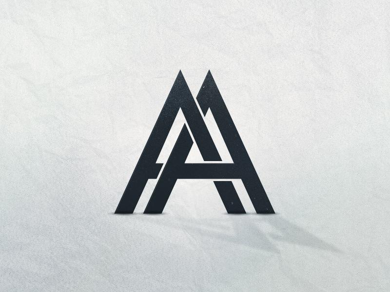AA Logo logo logotype a futura tangled letters illustrator ai vector