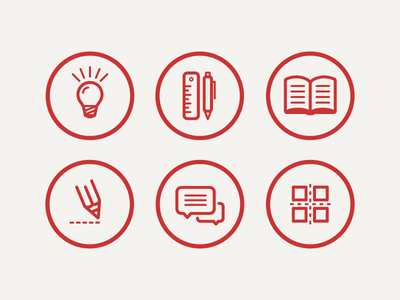 Iconset for CV Project icon vector illustrator light idea book write chat ai