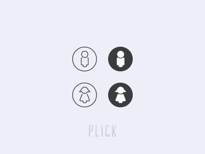 Gender icons for Plick v1.2 icon man woman illustrator ai plick app