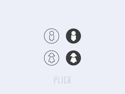 Gender icons for Plick v1.2 icon man woman illustrator ai plick app