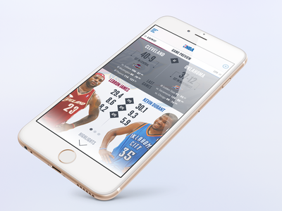 NBA Redesign nba app ui redesign lebron durant basketball iphone 6 plus