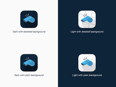 Icon For Sports App sports whistle ios app icon