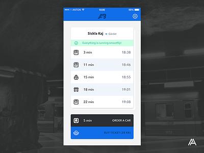 """""""A→B"""" App Concept stockholm sl concept travel commute ui ios app"""