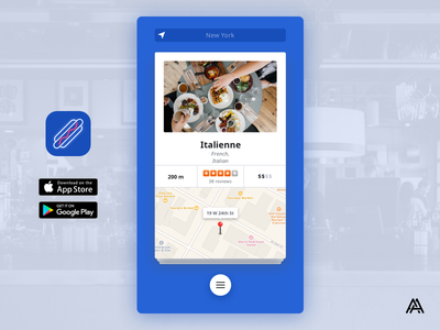 Lunchrrrrr - Great lunch is just a swipe away tinder play store app store app icon app cards swipe ui food lunch