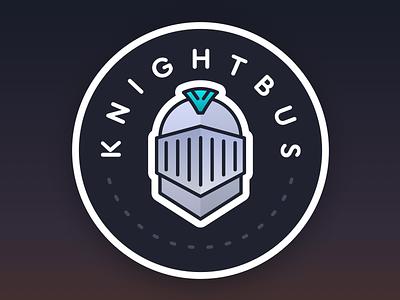 Knightbus Logo knight illustration logo