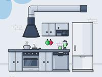Vector kitchen