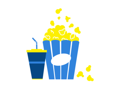 popcorn vector illustration cinema drink cola popcorn