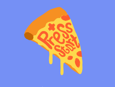Pizza illustraion food gaming culture pizza game