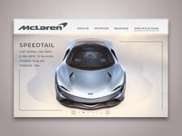 McLaren Speedtail UI