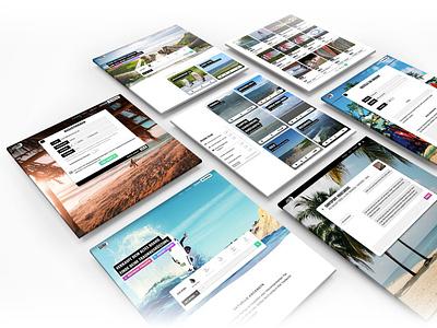 Surfspot.de Layouts website app branding design marketplace market surfing boards sport surf css html ui uidesign webdesign web