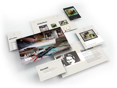 Astridtrost.de trost vita portfolio art ui html design css branding webdesign