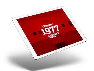 Oktober 1977 – an ePUB indesign design ipad red layout typography art raf 1977 digital magazine richter gerhard richter october epub