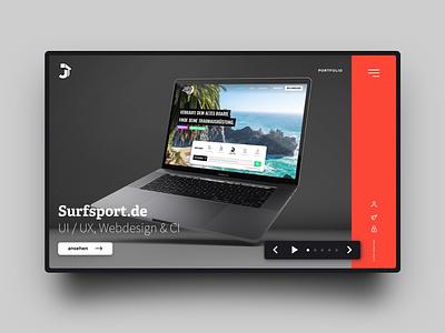 Portfolio Homepage mockup portfolio website homepage ux ui webdesign typography html css design