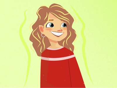 Girl Illustration illustrator animation flat minimalism vector web illustration logo design ui