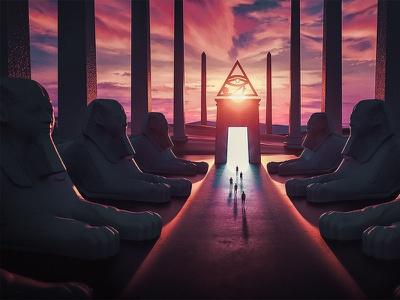 Journey to the soul of Egypt (Eye of Horus) digitalart egypt c4d music artwork art 3d illustration hotamr adobe photoshop behance