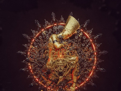 The Captive Queen hotamr photomanipulation gold egypt c4d digitalart adobe illustration 3d photoshop behance