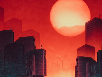 Tomorrow's World behance sunset illustration digitalart photoshop art amrelshamy hotamr