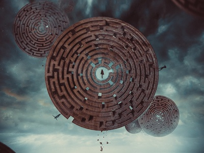 The Maze By Hotamr Dbcy6a5 1  conceptual photomanipulation 3d mixed media amrelshamy photoshop art behance