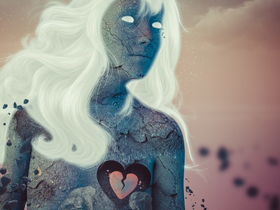 Broken woman illustration 3d behance elshamy amr art digital