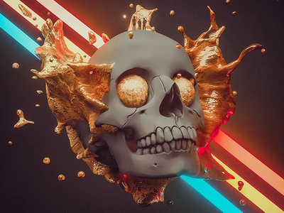 Revive monsters skull color man fly mixed media artwork photomanipulation digitalart elshamy c4d illustration amr digital hotamr 3d adobe photoshop art behance