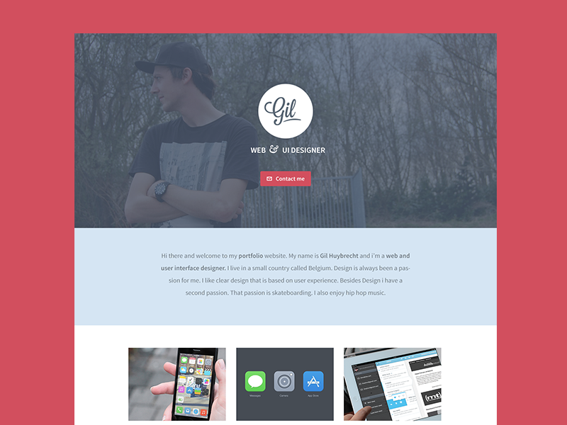 New Portfolio design ui webdesign portfolio red blue