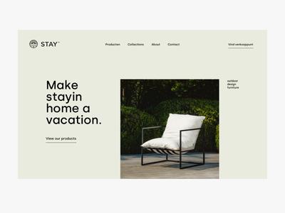 stay hero home garden outdoor furniture web ux ui design