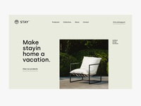 stay hero home garden outdoor furniture web ux ui design