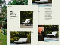 Stay homepage outdour furniture home stay web design ux ui