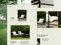 Product Page Stay lounge chair relax garden outdoor furniture design ux ui