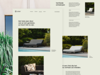 About page stay page about outdoor summer green landing landingpage furniture ux ui design