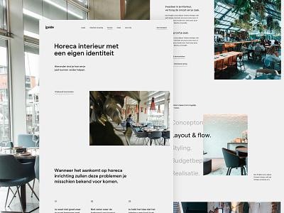 Inside service page services service studio agency interior minimal landing page inner design ux ui